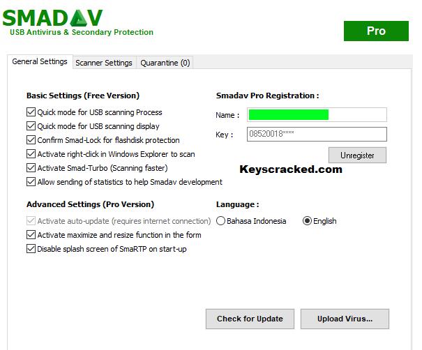 Smadav 2020 Rev 14.3 Crack Pro Registration Name And Key