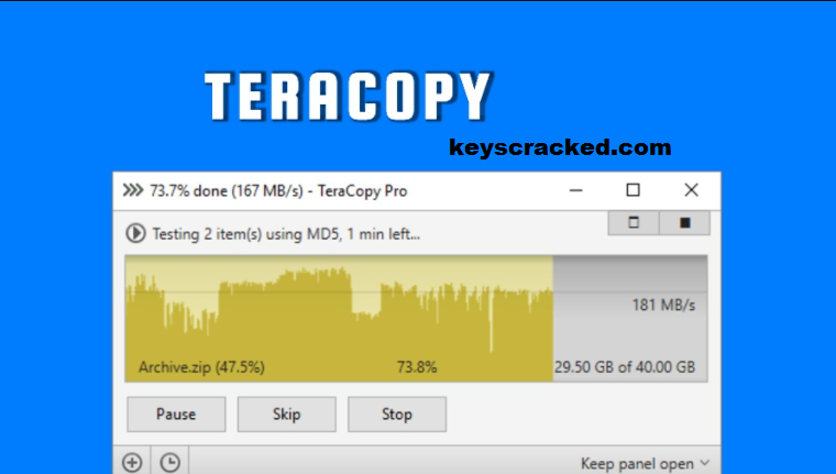 TeraCopy Crack 3.7 With Serial Key Latest Version [Latest] 2021